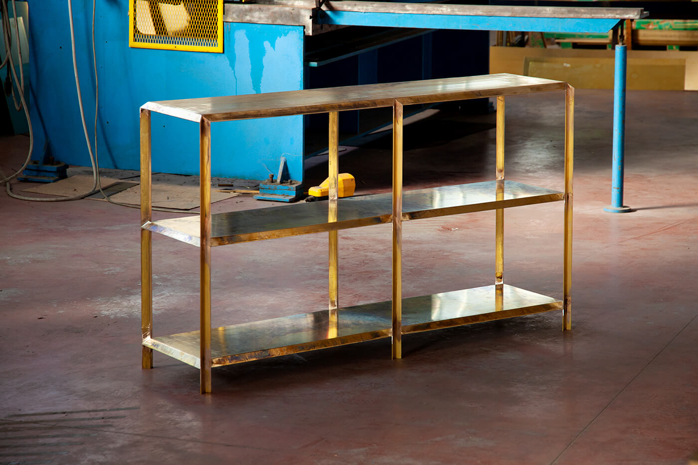Marco Campardo Elle Collection Brass Console Wallpaper Design Awards winner for Seeds London Gallery work in progress