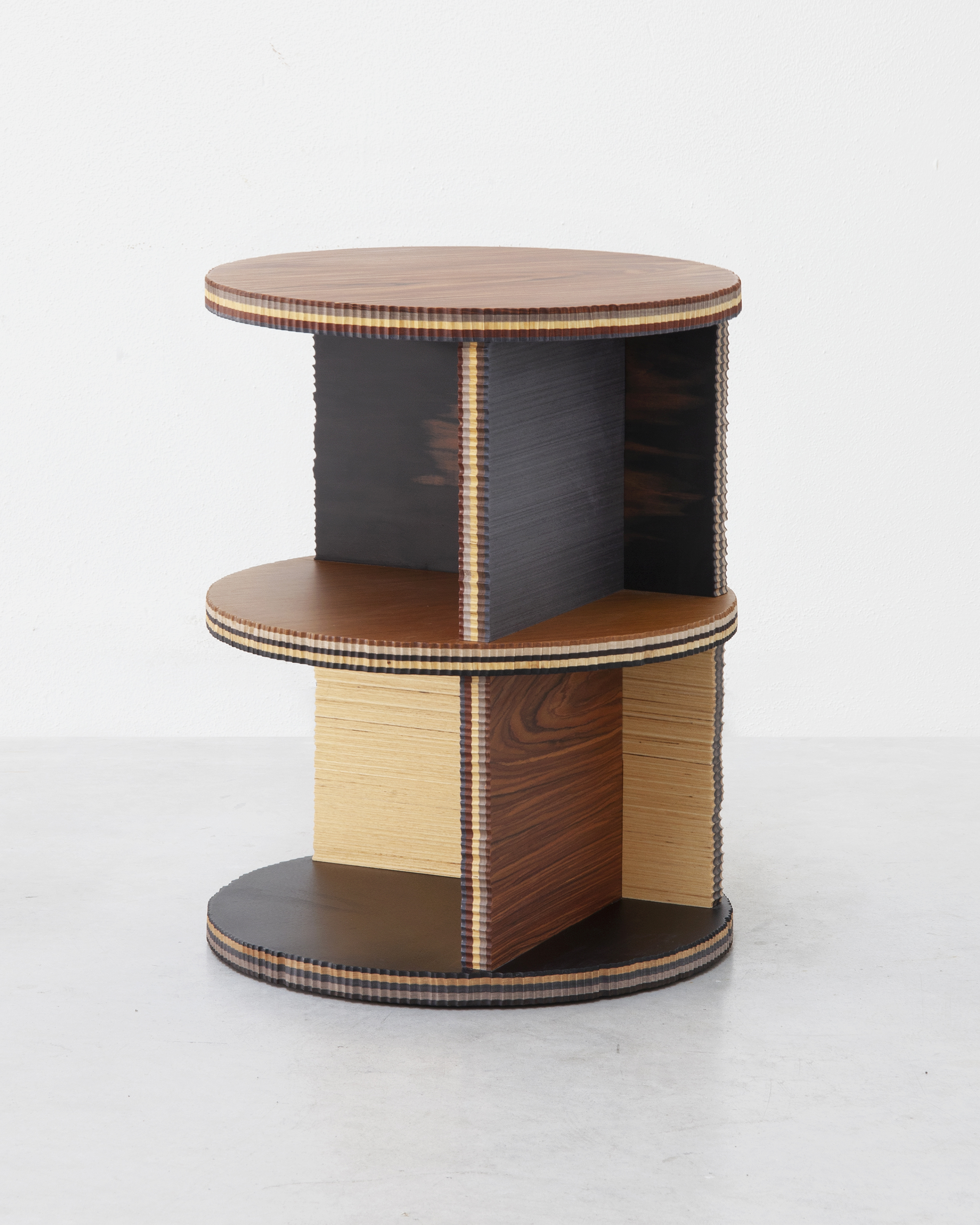 Marco Campardo designed George collection with reclaimed Alpi Wood and Seeds London Gallery