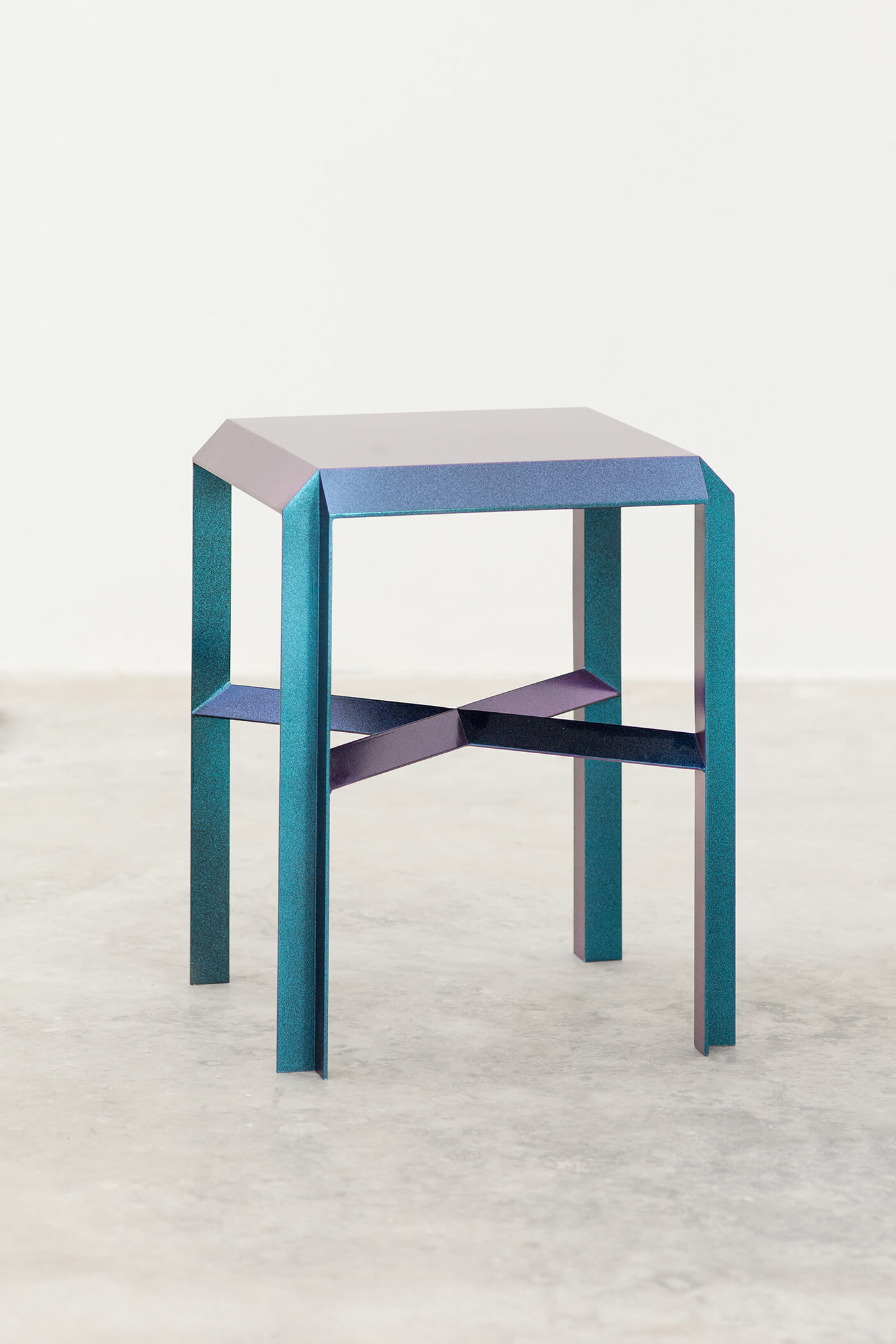 Marco Campardo Elle Collection Brass Stool Wallpaper Design Awards winner for Seeds London Gallery