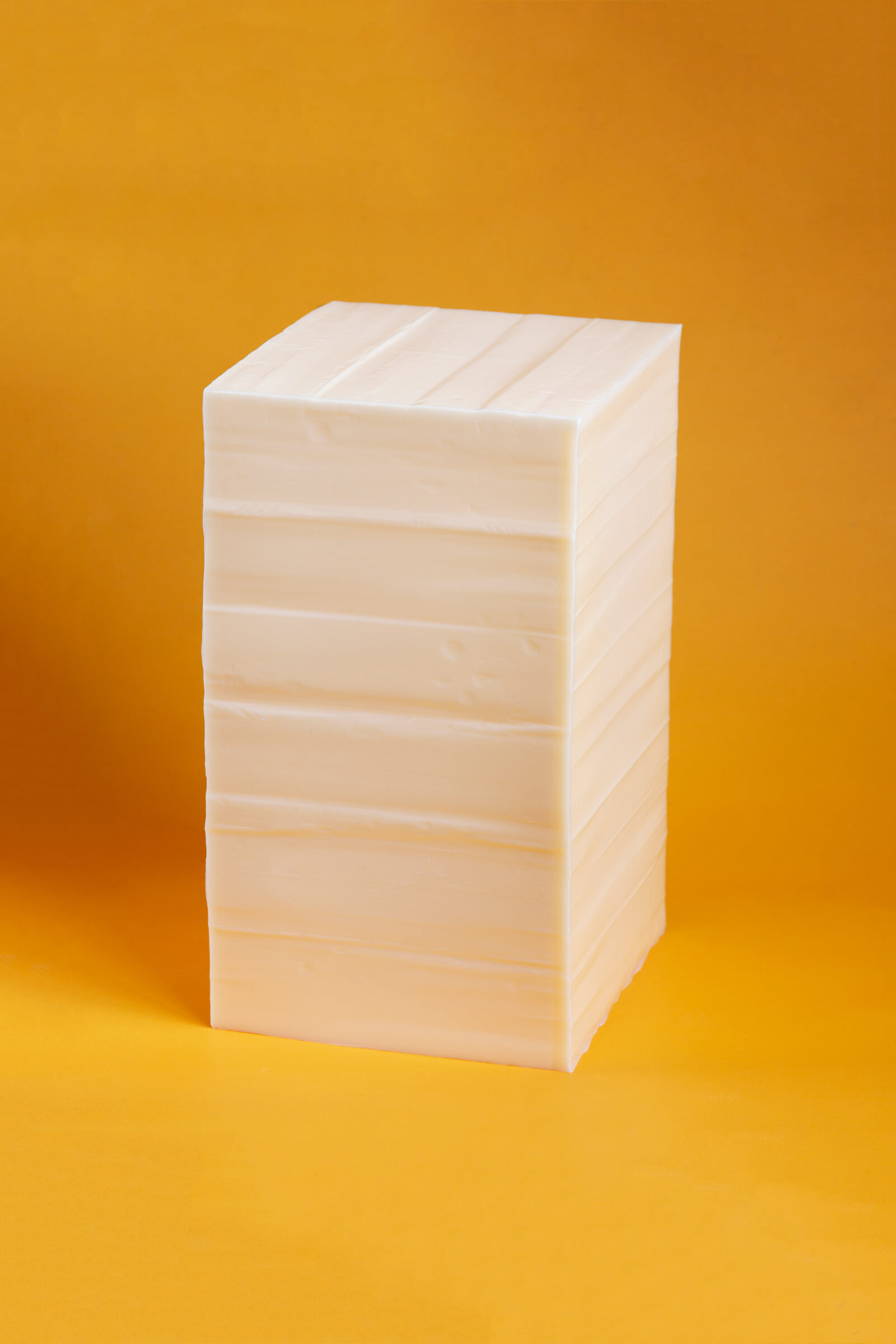 'Butter' (stool), various sizes, polyurethane, pigments, 2020. Commissioned by MACRO – Museum of Contemporary Art of Rome